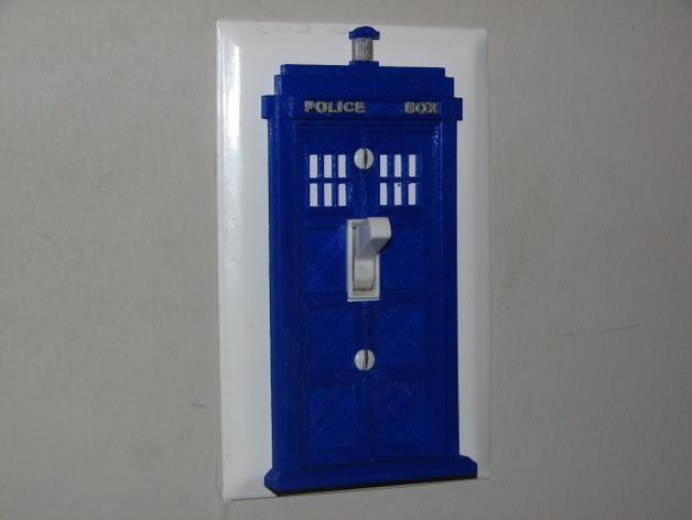 Tardis light switch decorative cover by joe snuffy for Tardis light switch cover