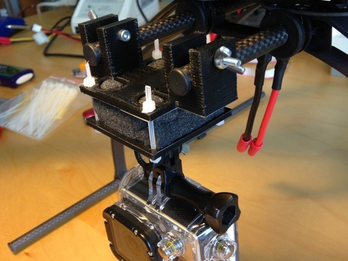 Thingiview Quadcopter Gopro Mount