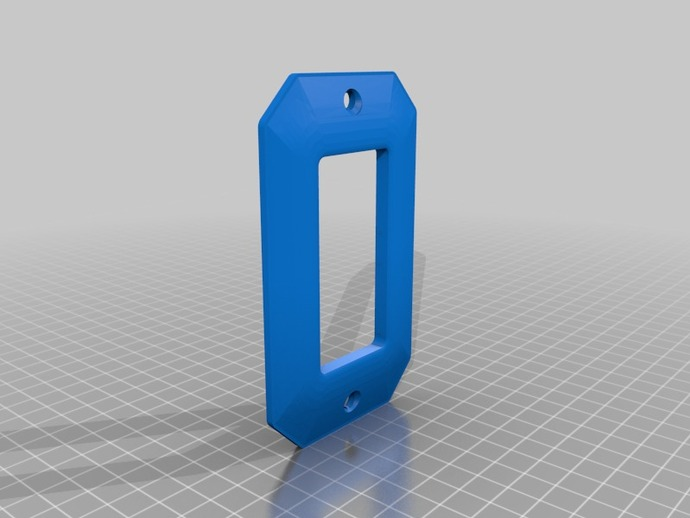 Light switch plate by alexandrestcyr thingiverse - Plaque adhesive murale ...