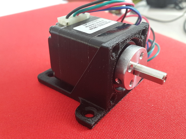 Nema 11 size stepper motor mount by mronak thingiverse for Stepper motor step size