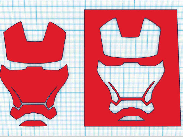 Iron Man - Face Stencil by tastic007 - Thingiverse