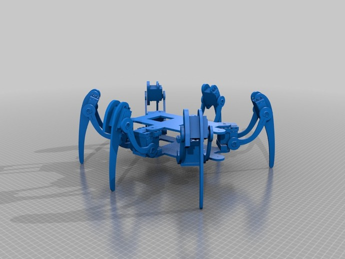 Dajijug the hexapod by funghy thingiverse