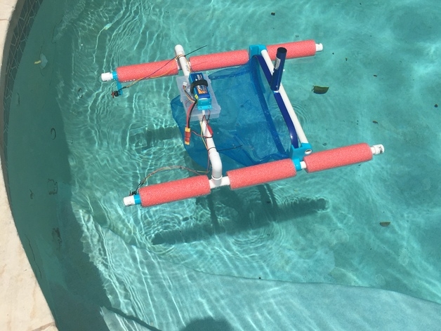 Diy rc pool skimmer parts by karltinsly thingiverse for Homemade pond skimmer