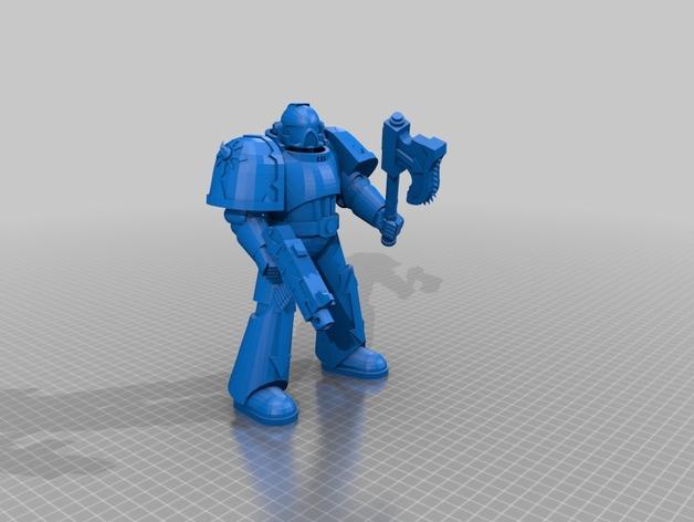 Warhammer 40k Space Marine Clean By Mekmekmek Thingiverse