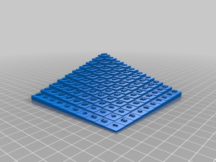 10x10 multiplication table by laird thingiverse for 10x10 multiplication table