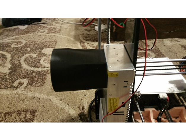 Duct Fan In An Enclosure : V a w power supply exhaust duct by knotbeerdan