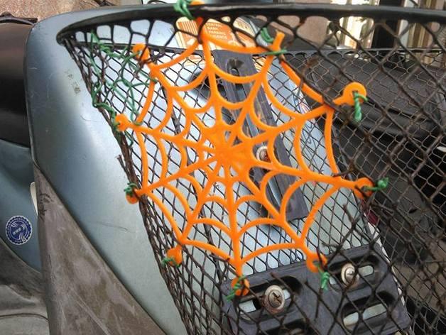Spider web for a broken basket