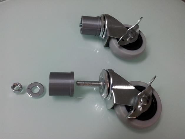 Caster adapter for ikea vika kaj table leg by sweetchicken