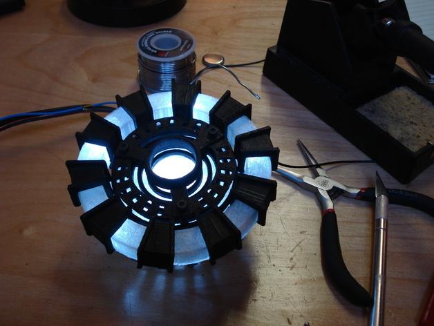 tony stark s arc reactor by skimbal thingiverse