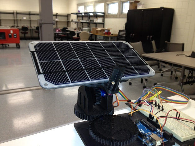 Dual Axis Solar Tracker By Opensourceclassroom Thingiverse