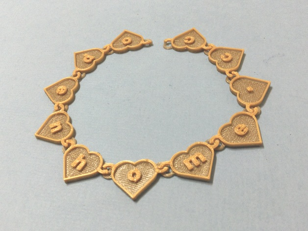 Text heart chain