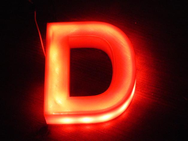 Illuminated Letter D, Der beleuchtete Buchstabe D by