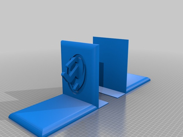 Portal bookends by imminentfate thingiverse - Portal bookend ...