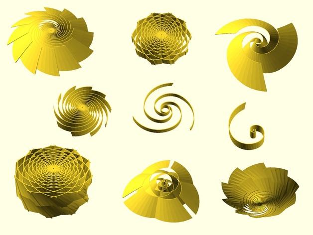Golden spiral generator