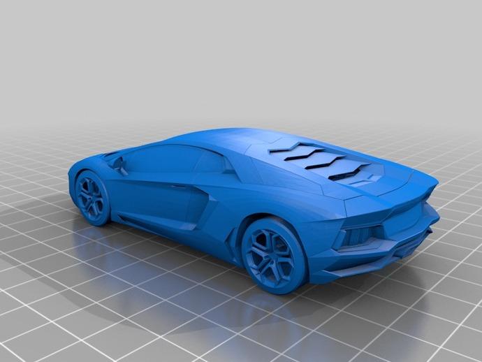 Lamborghini Aventador By Jarred1997 Thingiverse