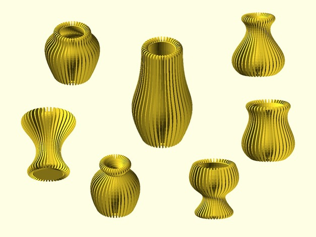 Customizable Bezier vase