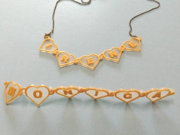 Heart chain with t