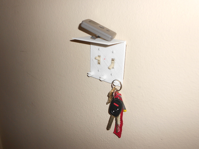 Light Switch Cover Key Holder By Asbeg Thingiverse