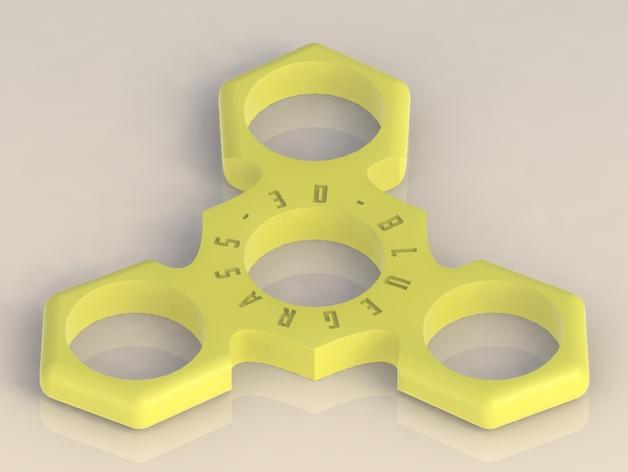 bg 3d hand spinner edc spinner fidget toy mk iii ninja star by docgonzo420 thingiverse. Black Bedroom Furniture Sets. Home Design Ideas