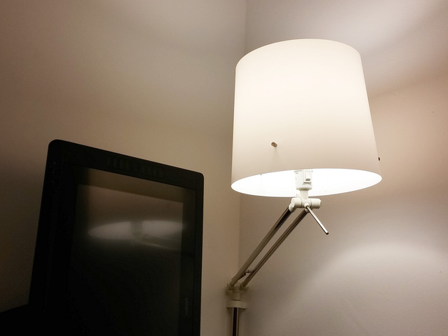 Corner Wall Mount Lamp : Ikea Samtid Lamp Corner Mount by designrama - Thingiverse