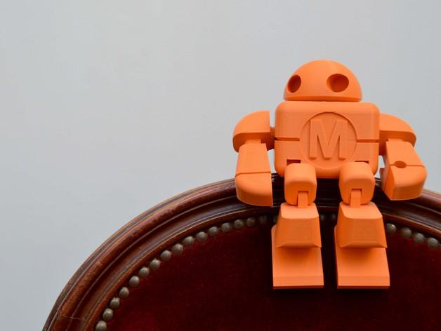 Maker Faire Robot Action Figure Single File By Lefabshop