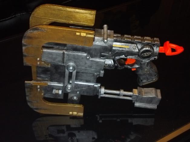 dead space plasma cutter nerf firestrike mod kit by