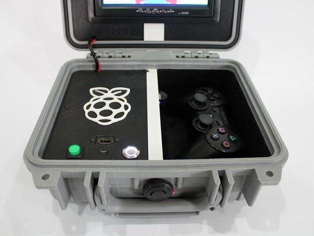 Retro pie box version 2 portable raspberry pi emulation console retired by nickrbrewer - Retro game emulator console ...