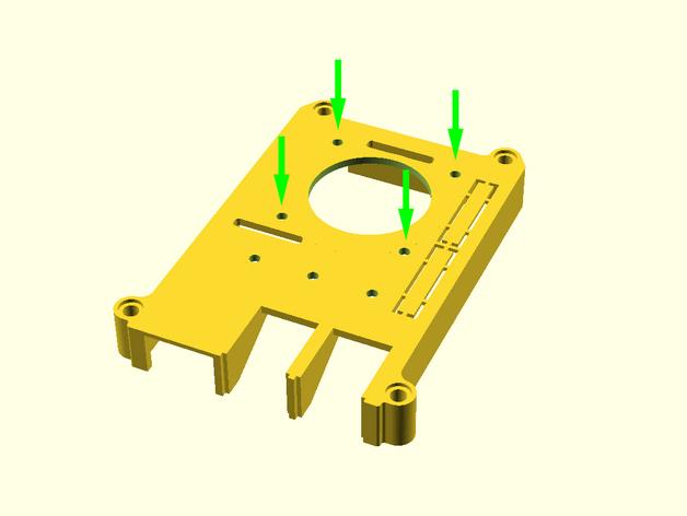 Raspberry Pi 3 40mm fan mounts holes