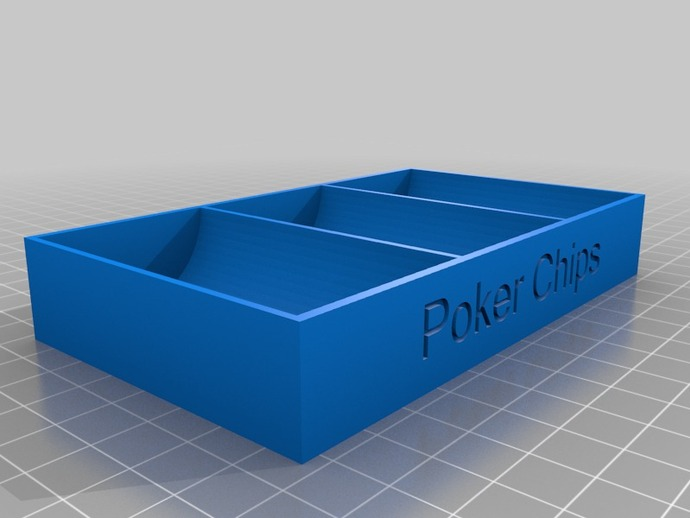 Simple Poker Chip Holder by cade007 - Thingiverse
