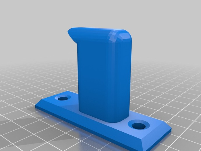 Wall mounted headphone stand made in autocad by techdante thingiverse - Wall mount headphone holder ...