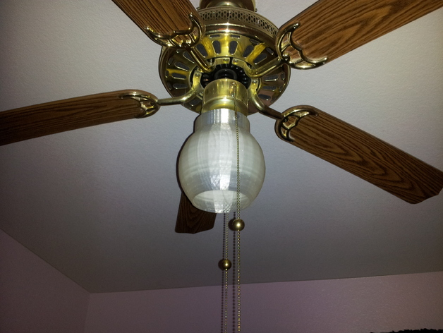 ceiling fan light cover by brett thingiverse. Black Bedroom Furniture Sets. Home Design Ideas