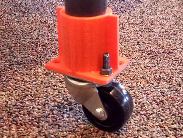 Table leg caster adapter by dmerand thingiverse