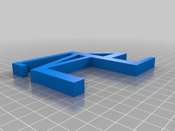Schreibtisch mehrfachstecker halter by harry thingiverse for Schreibtisch organisation