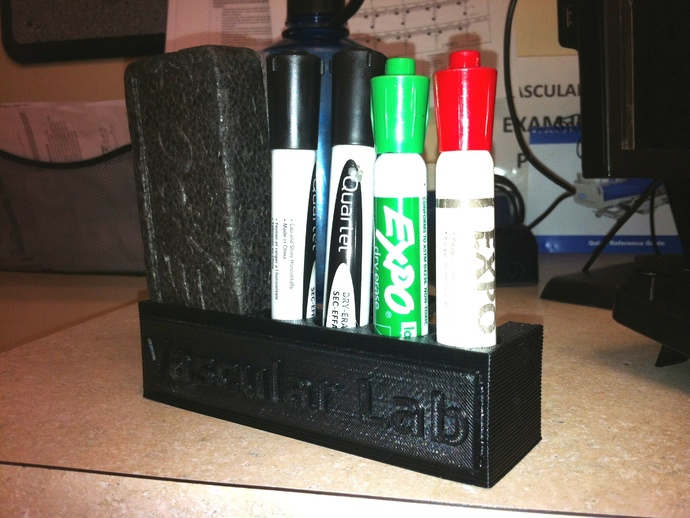 Magnetic Dry Erase Marker and Eraser Holder by qwiksand