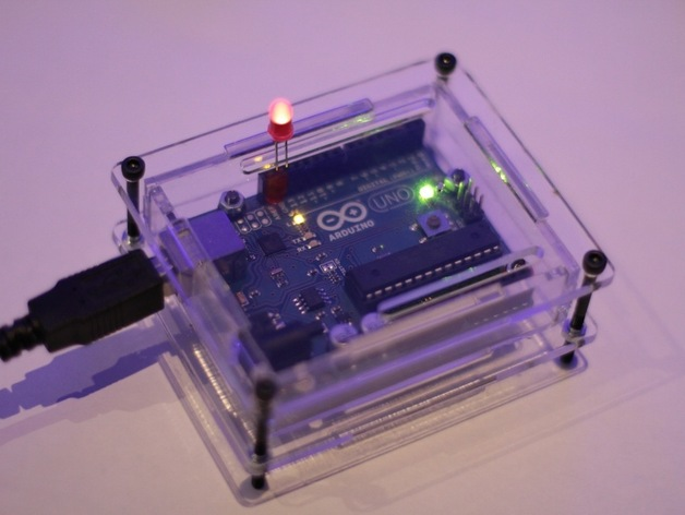Laser cut arduino enclosure by teabot thingiverse