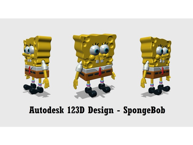 Autodesk 123d Design Spongebob Squarepants By