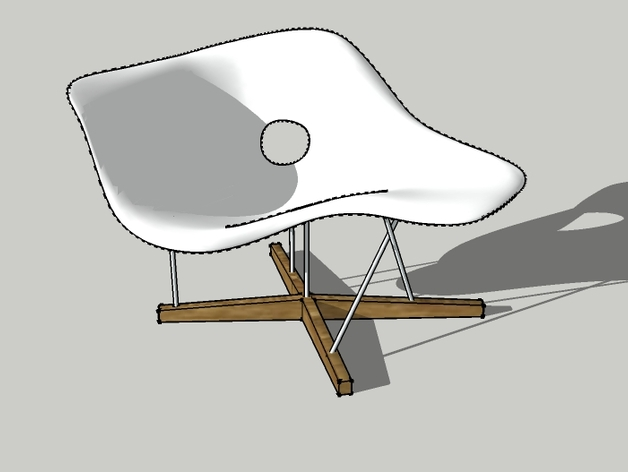 La chaise charles eames by arouschmeyer thingiverse - Chaise a bascule charles eames ...