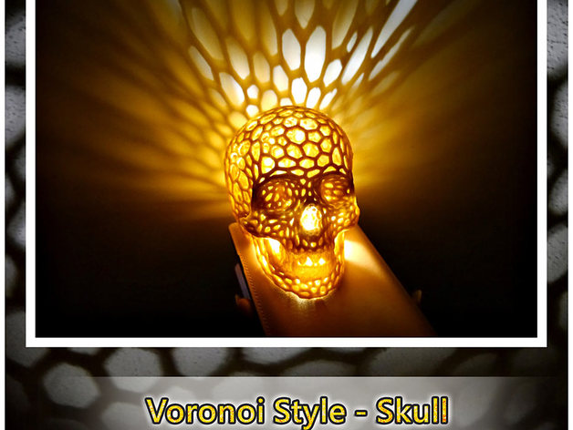 Skull lamps - Voronoi Style by shiuan - Thingiverse