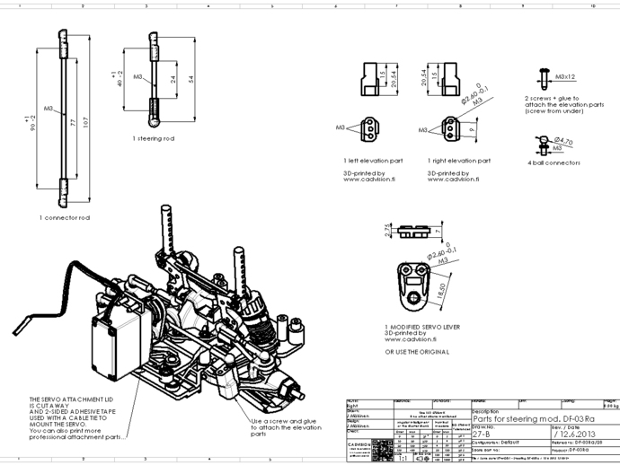 a working steering for tamiya df
