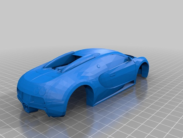 Bugatti Veyron Pinewood Derby By Marvins Dad Thingiverse