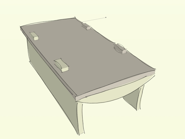 Table japonaise basse by nagato thingiverse for Table japonaise basse