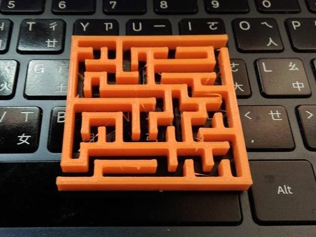 Maze generator, pure OpenSCAD