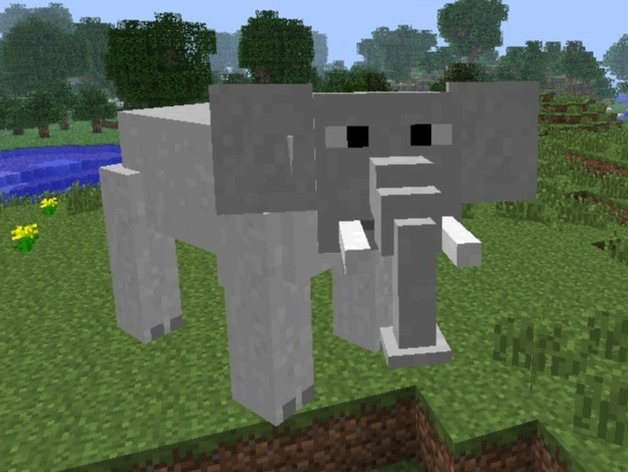 minecraft elephant by stacey_is_cool23 - Thingiverse