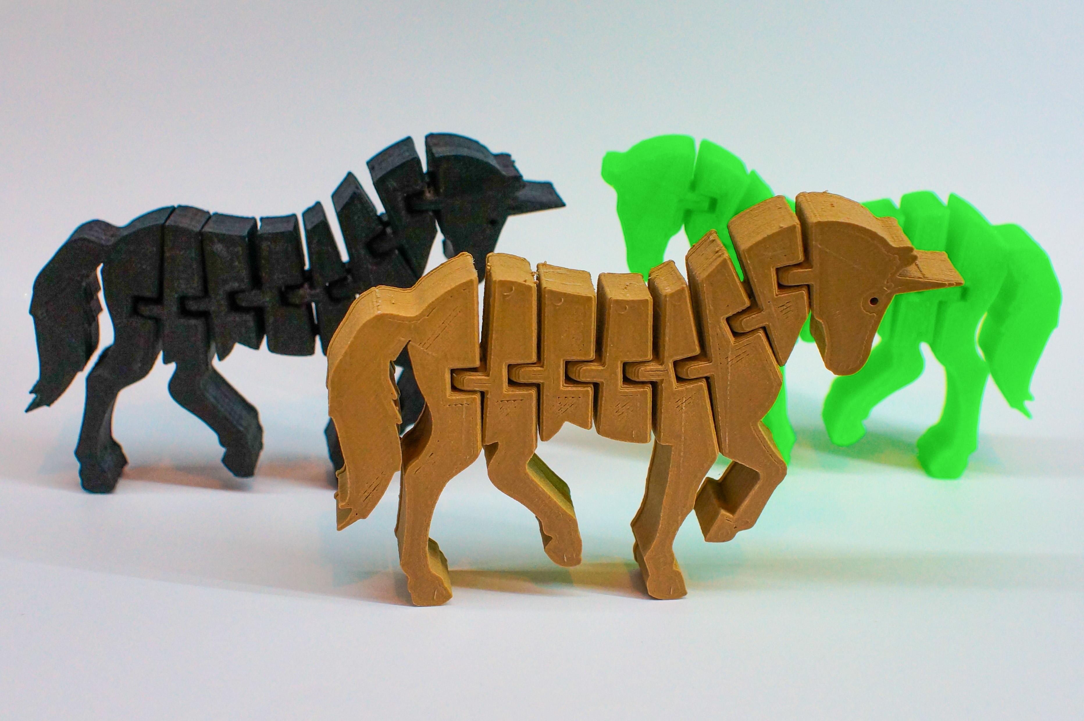 Flexi-Unicorn & Flexi-Horse by Benchy4Life - Thingiverse