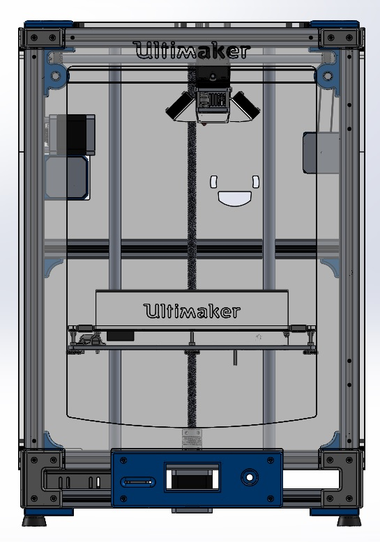 Ultimaker 2 Extended Aluminum Extrusion 3d Printer By