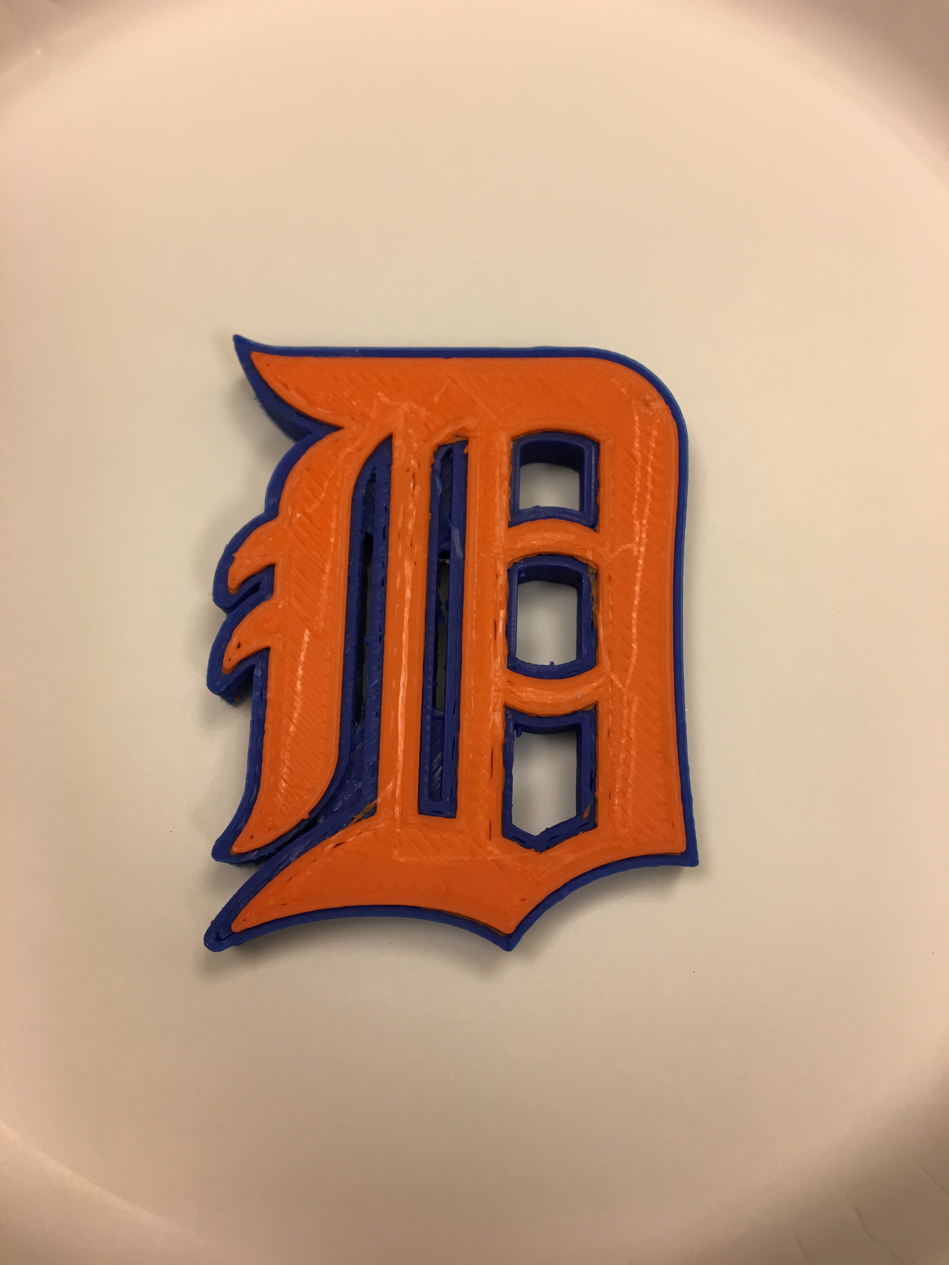 detroit tigers old english d magnet by mcfada thingiverse
