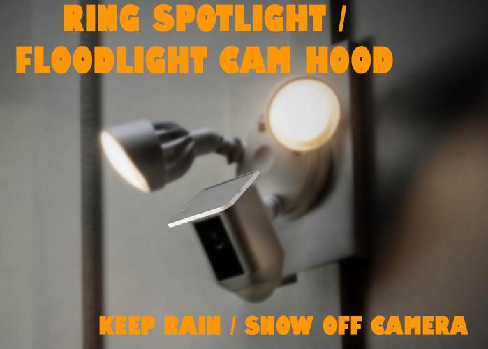 Ring Spotlight / Floodlight Cam Hood - Rain + Snow Top Cover by
