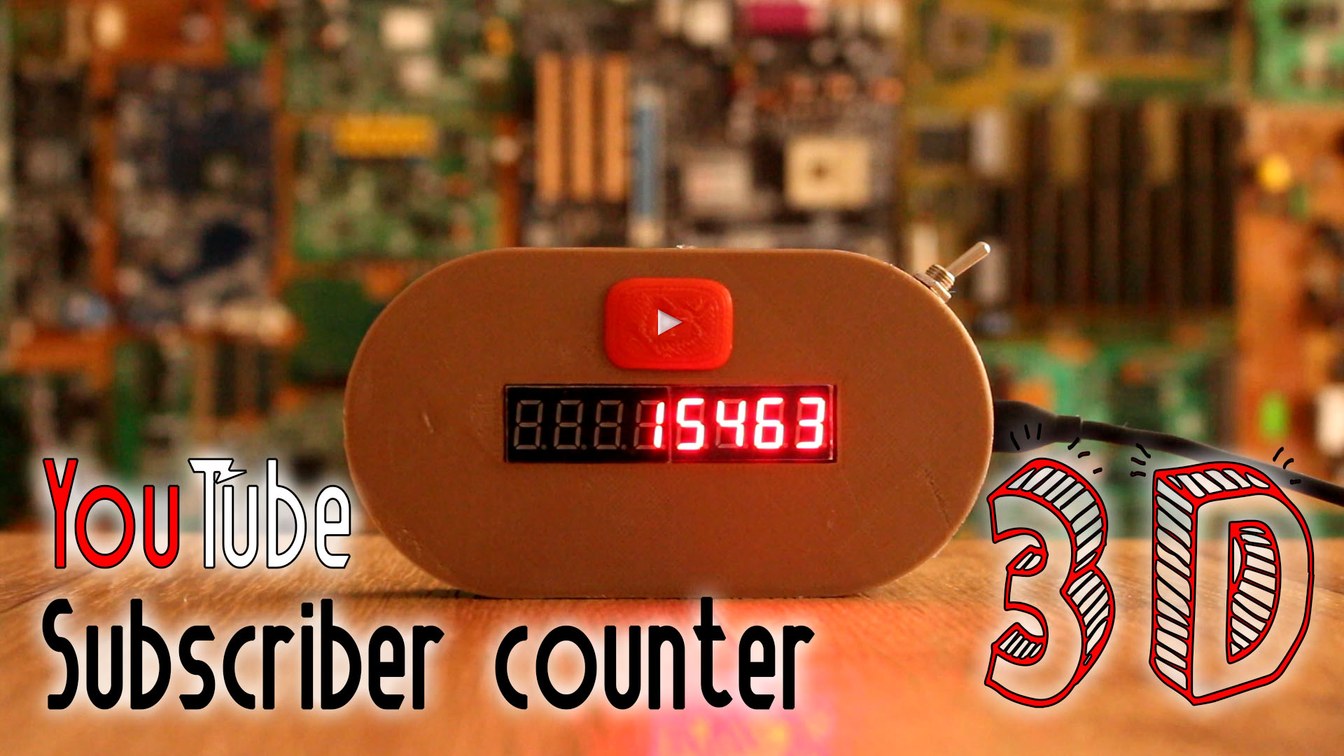 YouTube subscriber counter WIFI by ELECTRONOOBS - Thingiverse