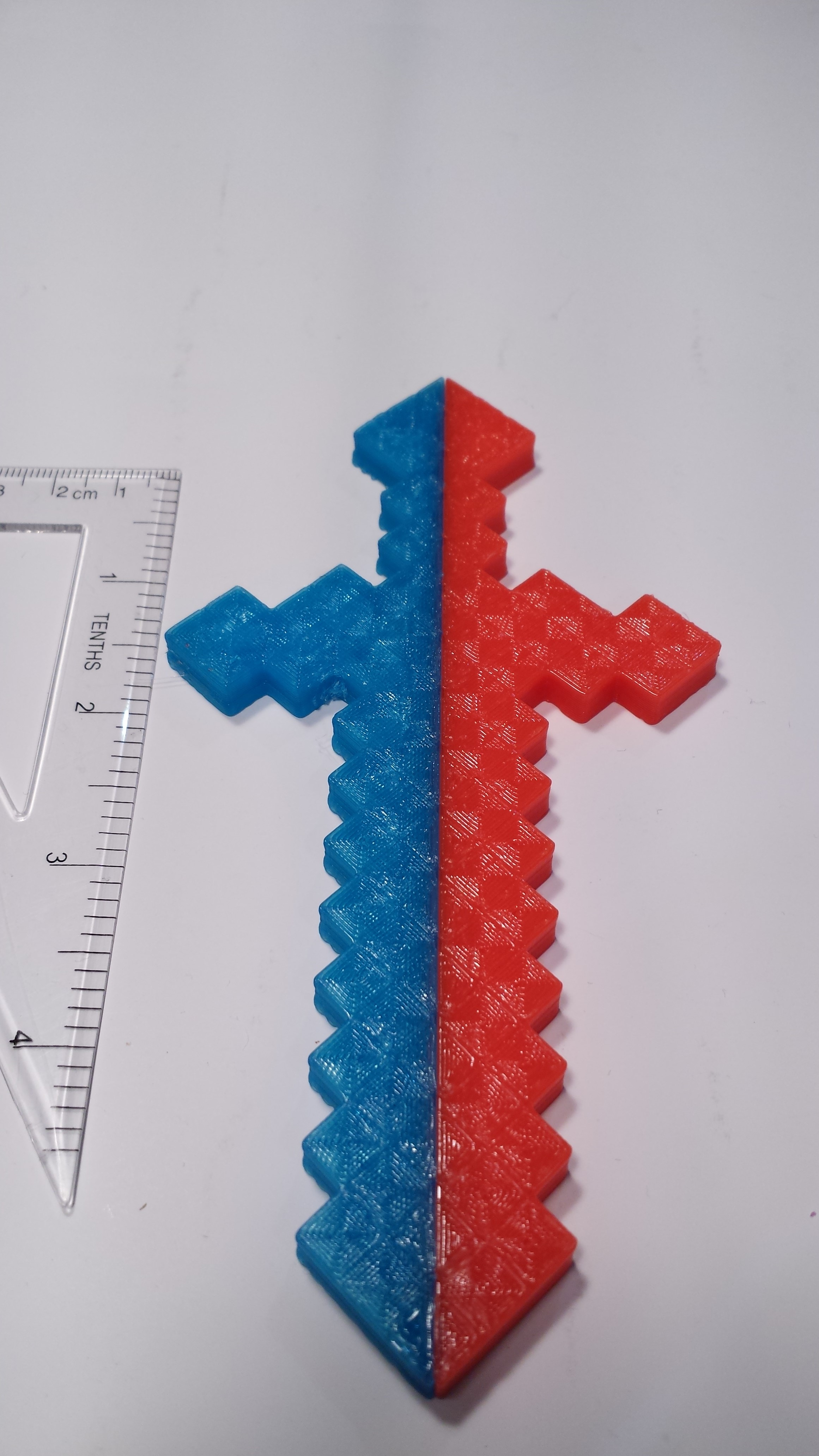 photo about Printable Minecraft Sword named 2 Element Minecraft Sword - Printable within 2 Shades by means of