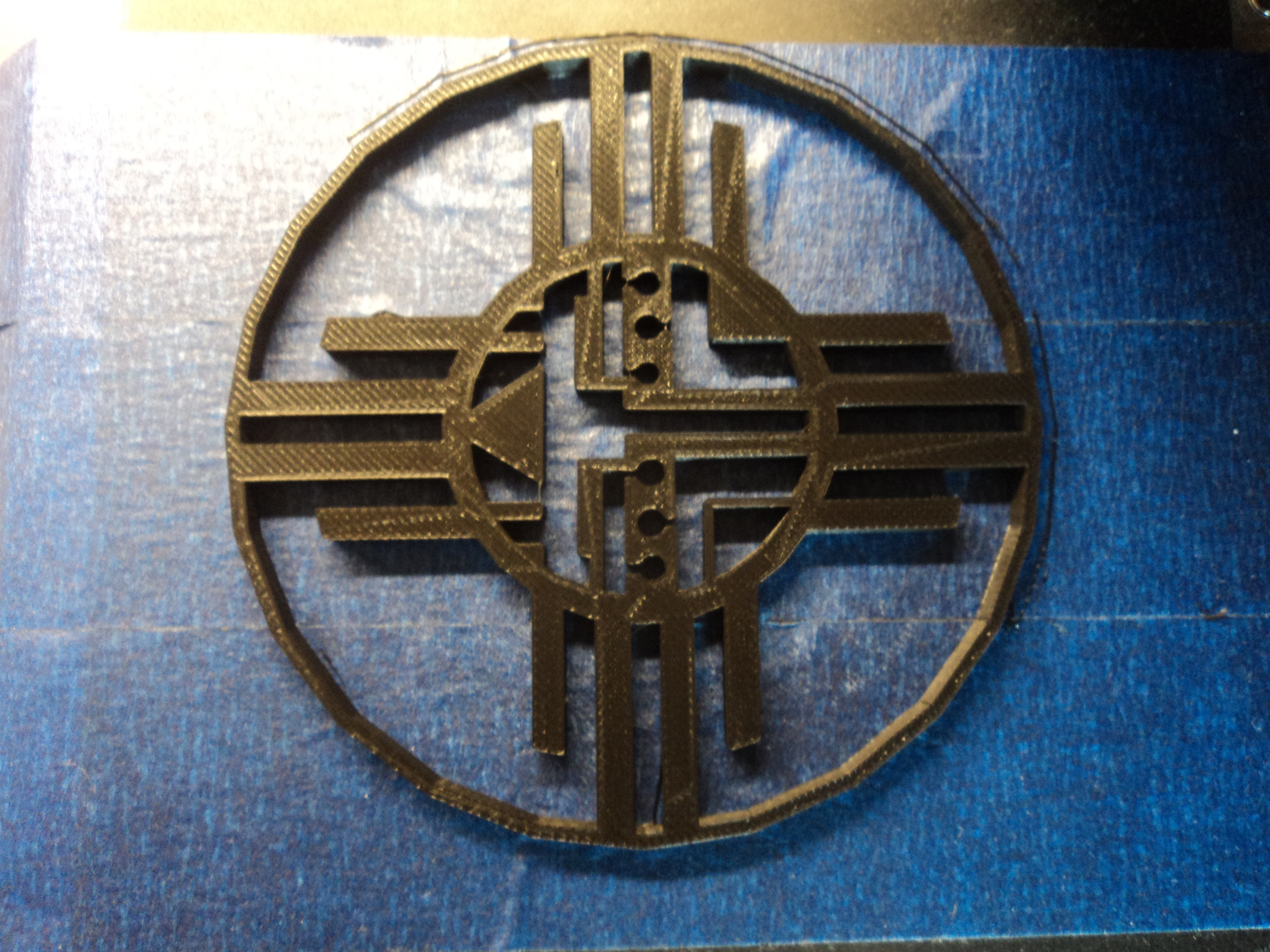 Navajo Sun With Face By Cnez1 Thingiverse